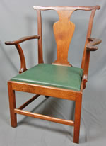 Petersburg, Virginia walnut arm chair circa 1780 - 1790.