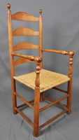 Eastern North Carolina ladder back arm chair circa 1770 - 1780.