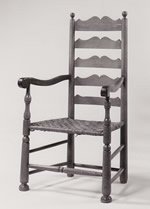 North Carolina Moravian Ladderback Arm Chair