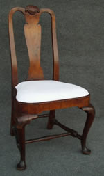 Boston, Massachusetts walnut shell carved side chair